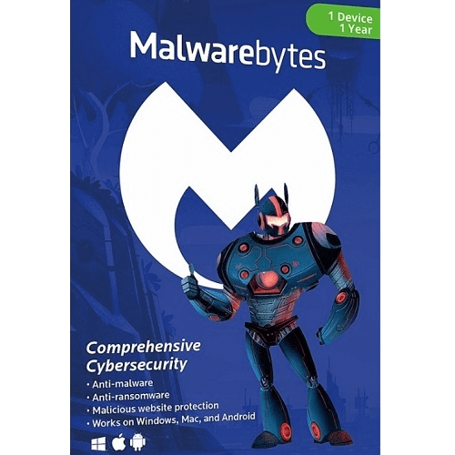 Malwarebytes Premium Multi-Device - 1 Year, 1 Device (Download)