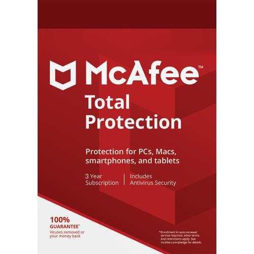 McAfee Total Protection - 3 Year, 1 Device  (Download)