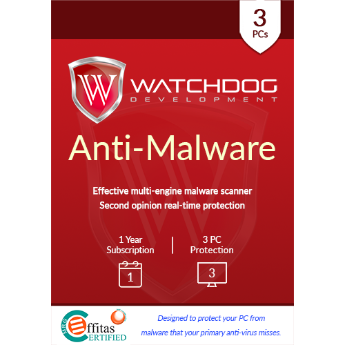 Watchdog Anti-Malware - 1 Year, 3 PC (Download)