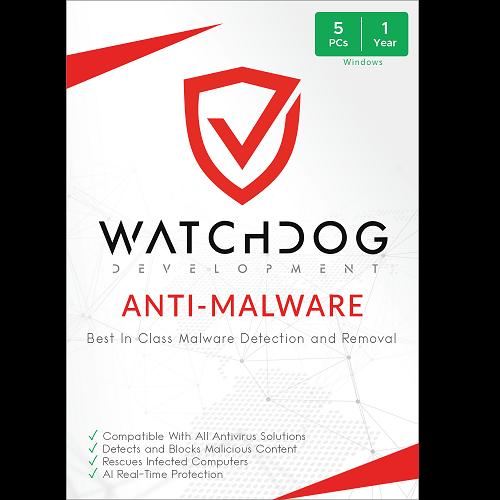Watchdog Anti-Malware - 1 Year, 5 PC (Download)
