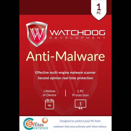 Watchdog Anti-Malware - Lifetime of Device / 1-PC